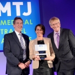 Winner of 'Medical travel agency of the year': France Surgery. Collecting: Carin Hilaire, CEO, France Surgery