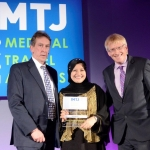 Winner of 'International cosmetic surgery clinic of the year': Beverley Wilshire Medical Centre. Sherene Azura Azli, CEO of Malaysia Healthcare Travel Council on behalf of Beverly Wilshire.